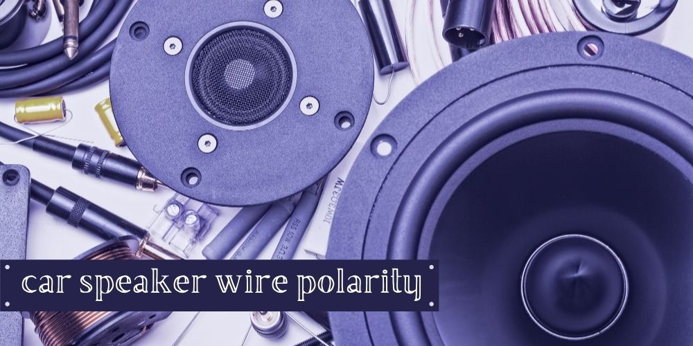 car speaker wire polarity